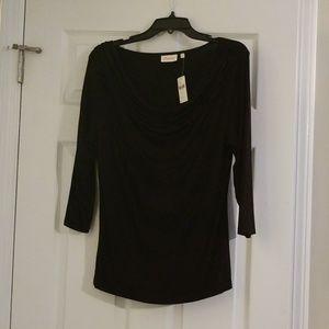 NWT Anthropologie 3/4 sleeve cowl neck shirt